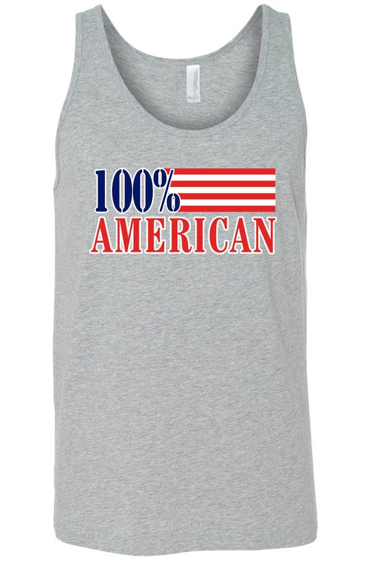 USA Flag Tank Top Men's 100% American Shirt