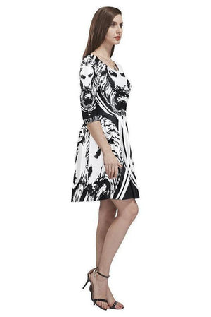 Abstract Lion Womens Skater Dress