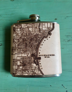 Milwaukee Map Flask