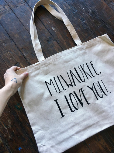 Milwaukee, I Love You Tote Bag
