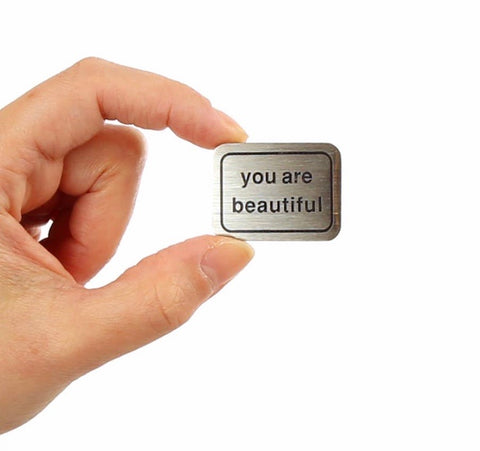 You Are Beautiful Pinback Button