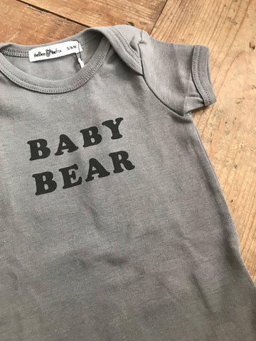 Baby Bear Onesie-Charcoal Grey