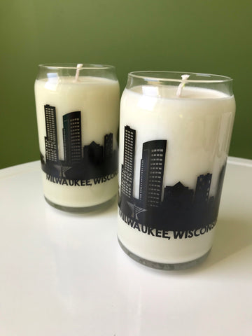 Milwaukee Skyline Candle