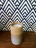 Tall Cylinder Speckled Buff Candle