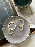 Stitch & Stone Gold Plated Interlocking Hoop Earrings