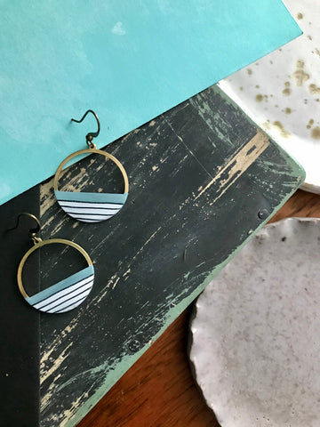 Dear Darlington Striped Shoreline Earrings