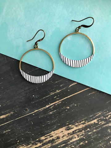 Dear Darlington Pinstripe Heirloom Earrings
