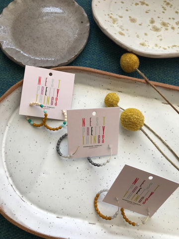 Nest Pretty Things Beaded Hoop Earrings
