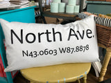Latitude/longitude Pillow