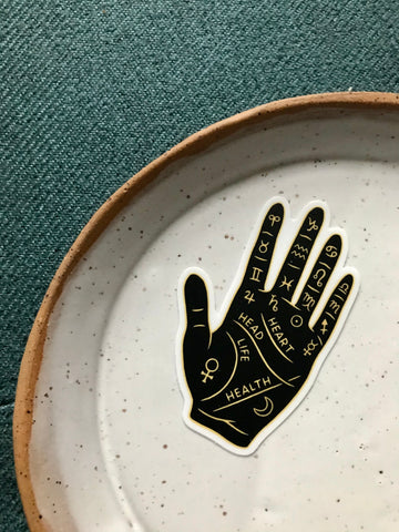 Palm Reading Vinyl Sticker