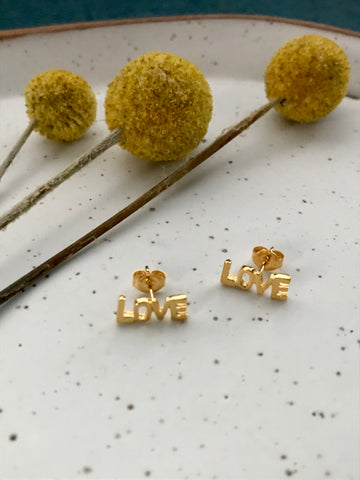 Amano Love Stud Earrings