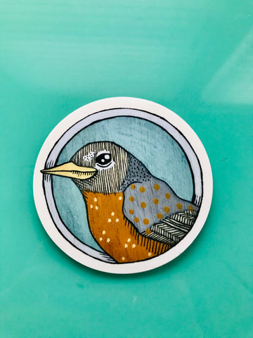 Robin Vinyl Sticker