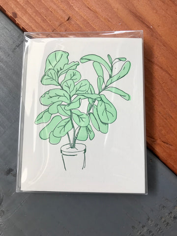 Fiddle Leaf Fig Box Set of Cards