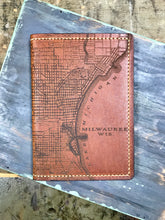 Milwaukee Map Leather Passport Wallet