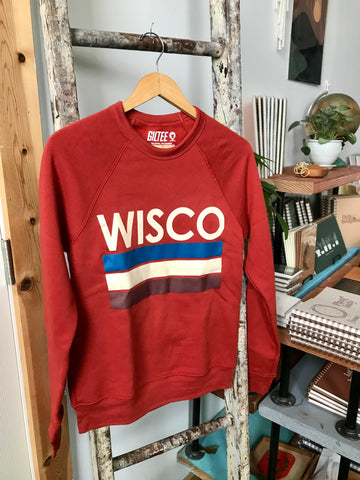Wisco Red Pillar Crewneck
