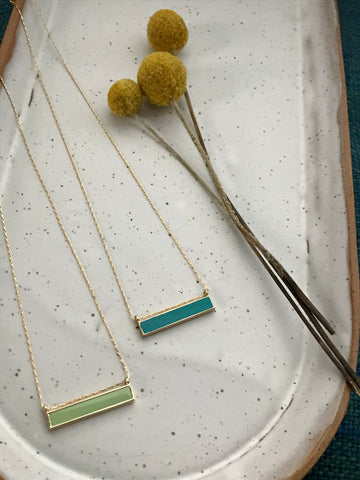 Amano Enamel Bar Necklace