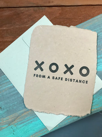 XOXO From A Safe Distance Card
