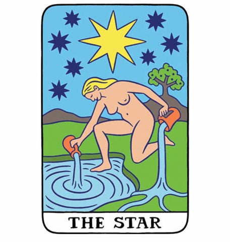 Tarot Card Star Vinyl Sticker