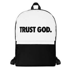 Black & White TRUST GOD Backpack
