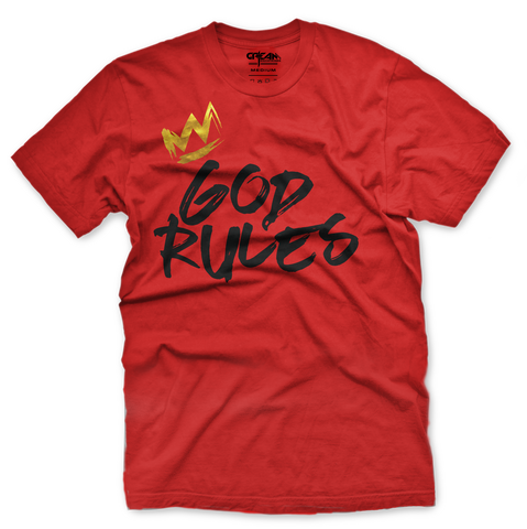 God Rules Red Tee - Unisex