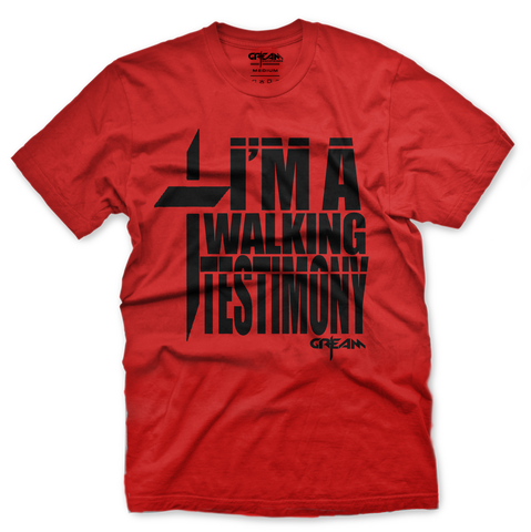 Walking Testimony Red Tee - Unisex