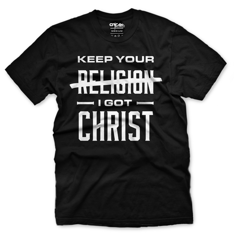 Keep Your Religion Black Tee - Unisex