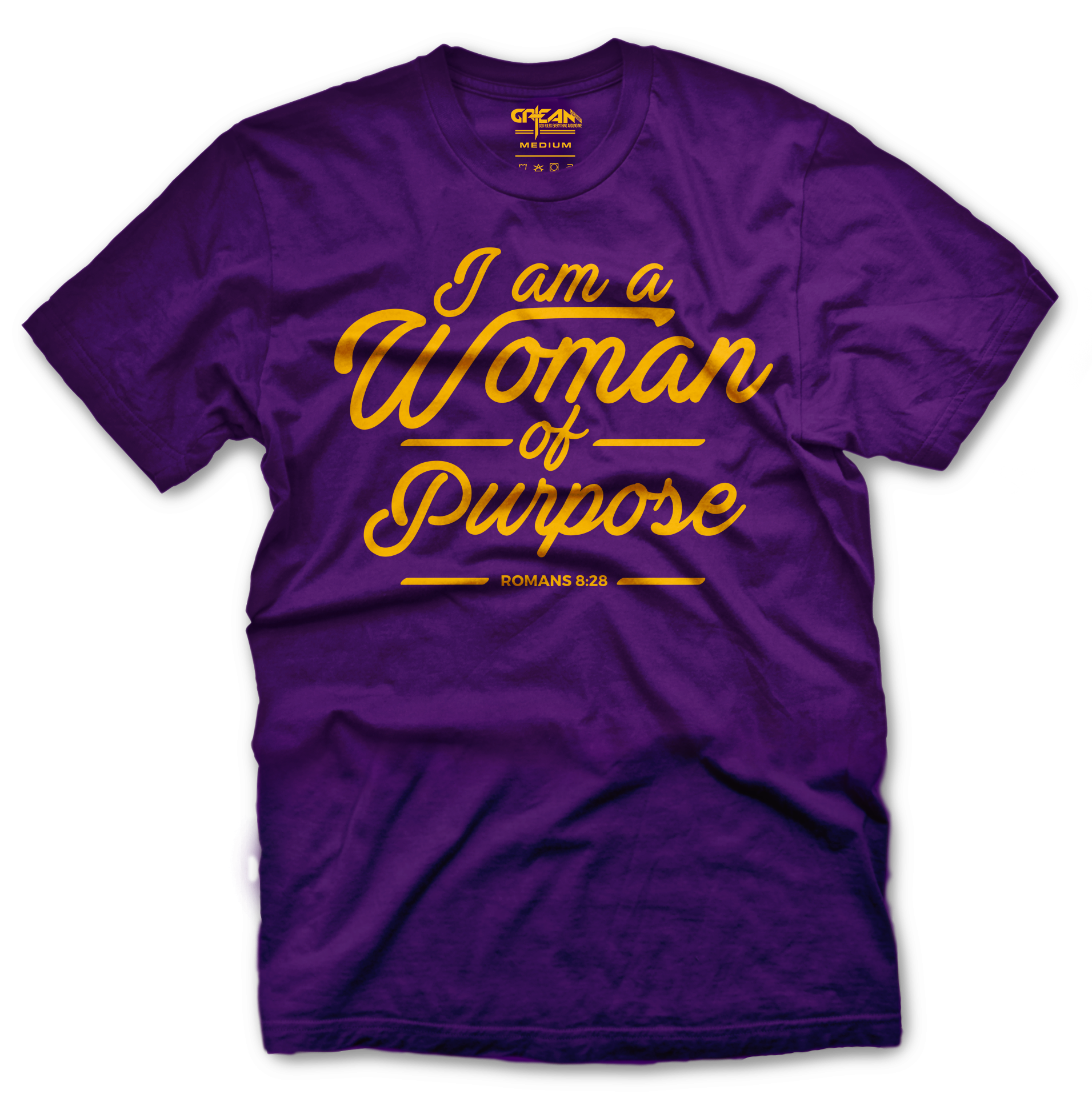 Woman of Purpose purple tee