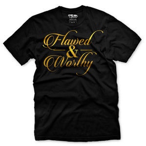 Flawed & Worthy Black Tee