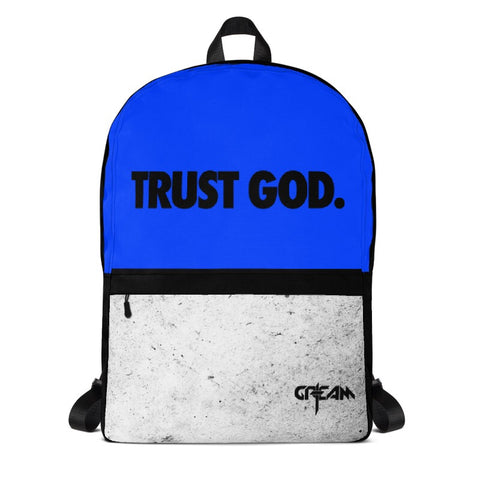 Royal Blue TRUST GOD Backpack