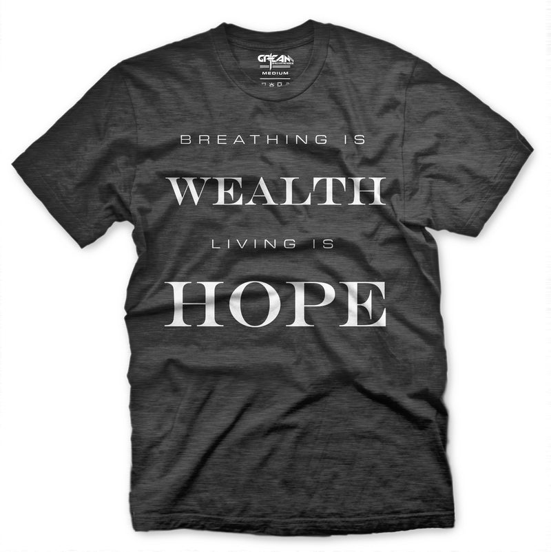 Breathing Is Wealth Heather Grey Tee - Unisex