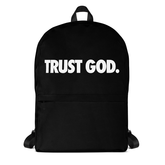 Black TRUST GOD Backpack