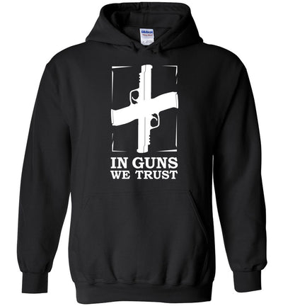 In Guns We Trust - Shooting Men's Hoodie - Black