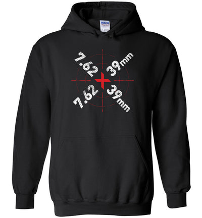 7.62 x 39mm Caliber Ammo AK-47 Tactical Gun Hoodie - Black