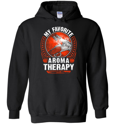 My Favorite Aroma Therapy - Pro Gun Men's Hoodie - Black