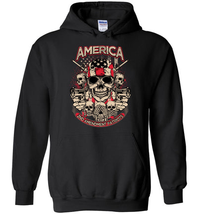 2nd Amendment Patriots - Pro Gun Men's Apparel - Black Hoodie