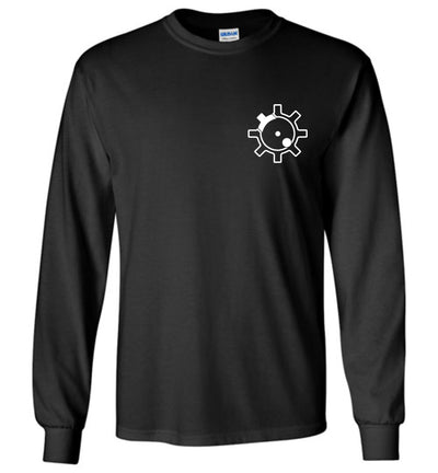 AR-15 Bolt Face - Men's Pro Gun Long Sleeve T Shirt - Black