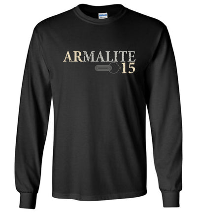 Armalite AR-15 Rifle Safety Selector Men's Long Sleeve Tshirt - Black