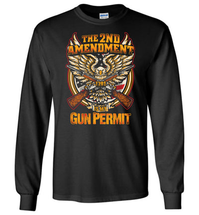 The 2nd Amendment is My Gun Permit - Men's Long Sleeve T Shirts - Black