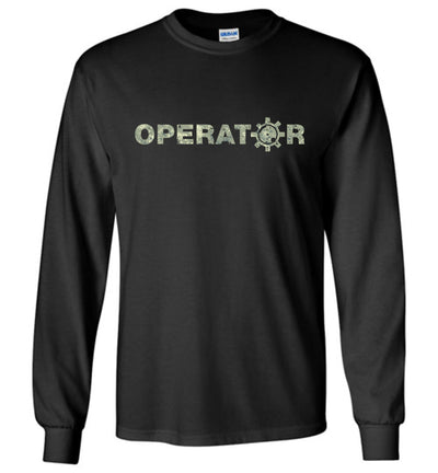 AR-15 Bolt Face Operator - Pro Gun Men's Long Sleeve Tee - Black