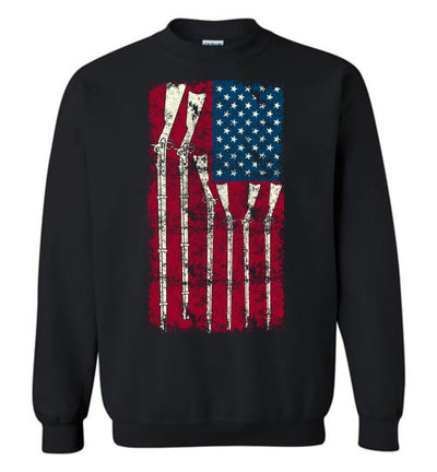 American Flag with Guns - 2nd Amendment Men's Sweatshirt - Black