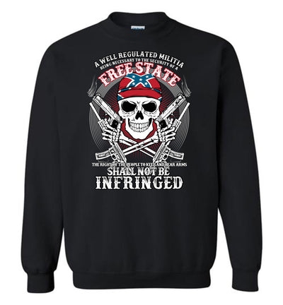 The right of the people to keep and bear arms shall not be infringed - Men's 2nd Amendment Sweatshirt - Black