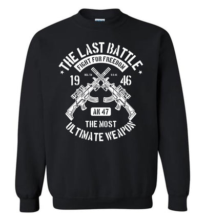 AK-47 The Most Ultimate Weapon - Men's Pro Gun Sweatshirt - Black