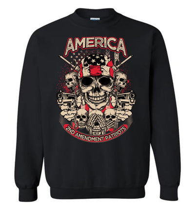 2nd Amendment Patriots - Pro Gun Men's Apparel - Black Sweatshirt