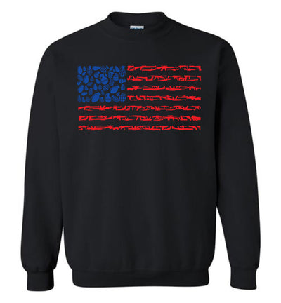 American Flag Made of Guns 2nd Amendment Men's Sweatshirt - Black