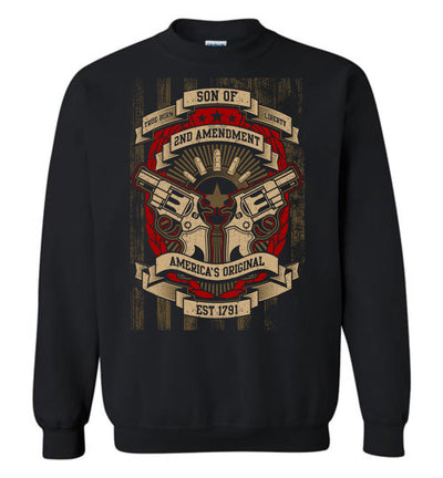 Son of Liberty 2nd Amendment Men's Apparel - Black Sweatshirt