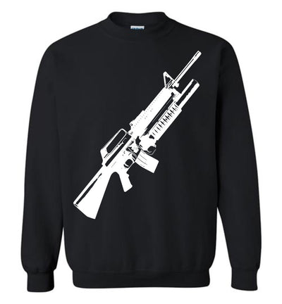 M16A2 Rifles with M203 Grenade Launcher - Pro Gun Tactical Men's Sweatshirt - Black