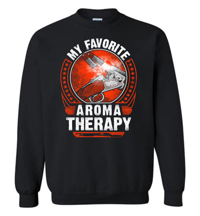 My Favorite Aroma Therapy - Pro Gun Men's Sweatshirt - Black