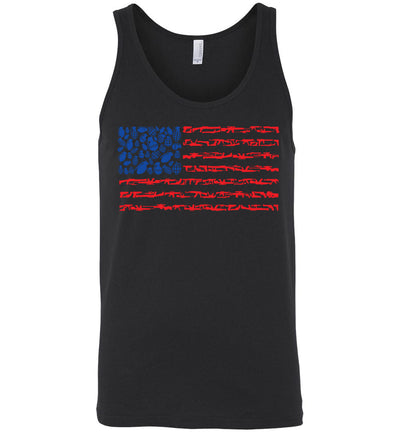 American Flag Made of Guns 2nd Amendment Men's Tank Top - Black