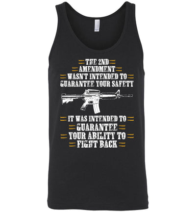 The 2nd Amendment wasn't intended to guarantee your safety - Pro Gun Men's Apparel - Dark Grey Heather Tank Top