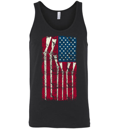 American Flag with Guns - 2nd Amendment Men's Tank Top - Black